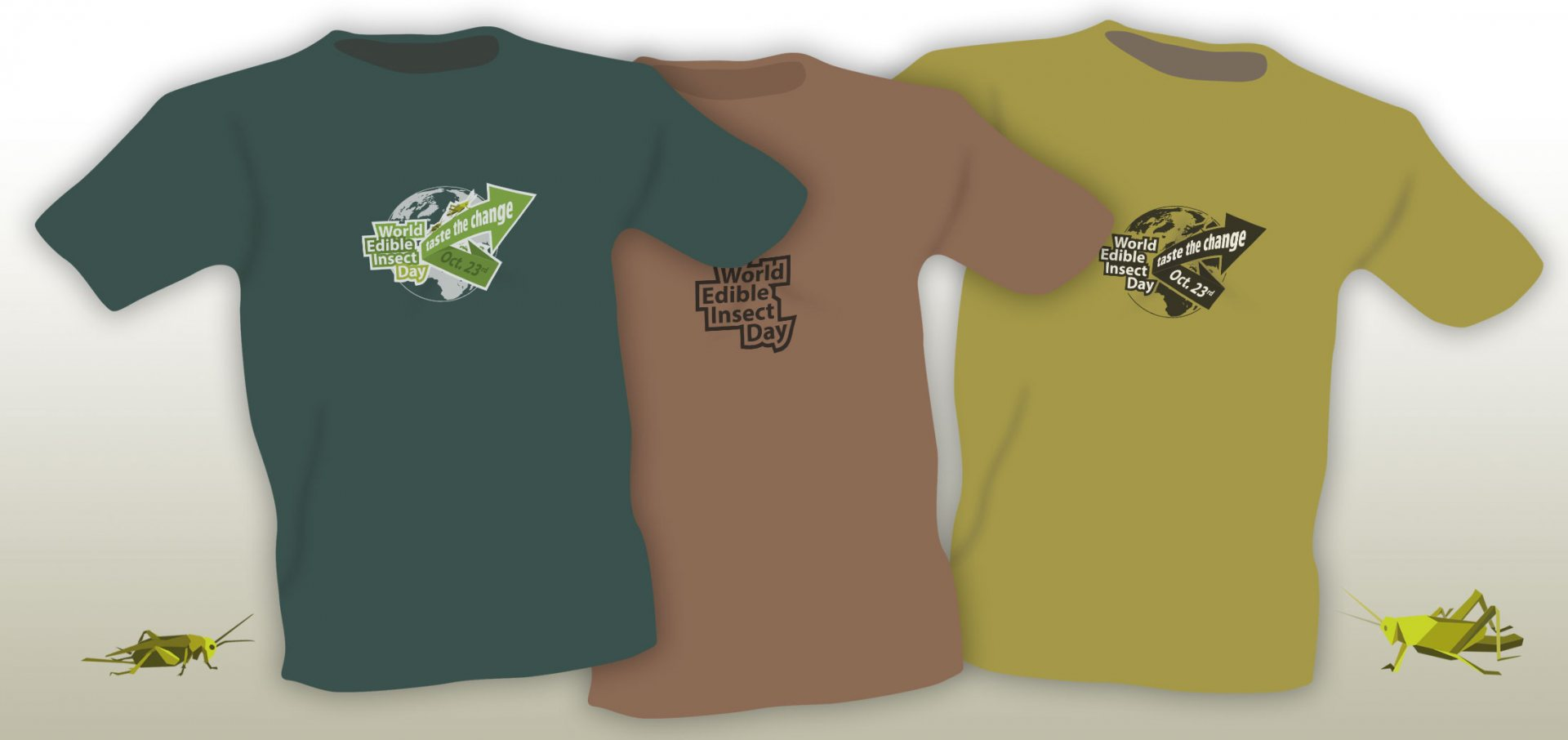 World Edible Insect Day Logo Varianten tshirts